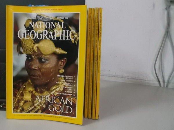 【書寶二手書T7/雜誌期刊_XCA】國家地理_1996/5~12期間_5本合售_African gold等