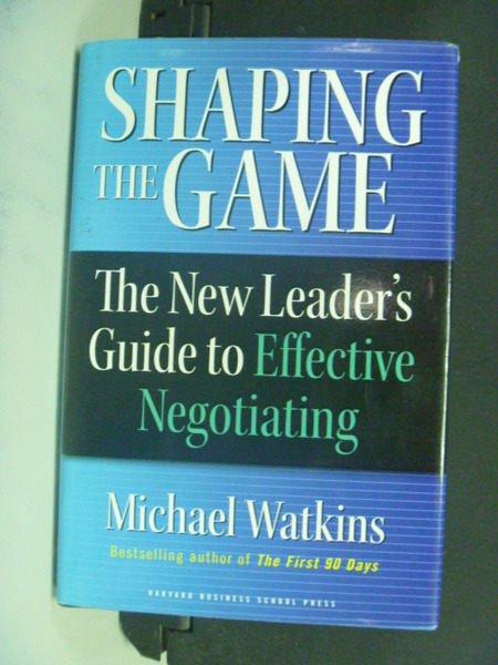【書寶二手書T2/財經企管_NCF】Shaping the game_Watkins