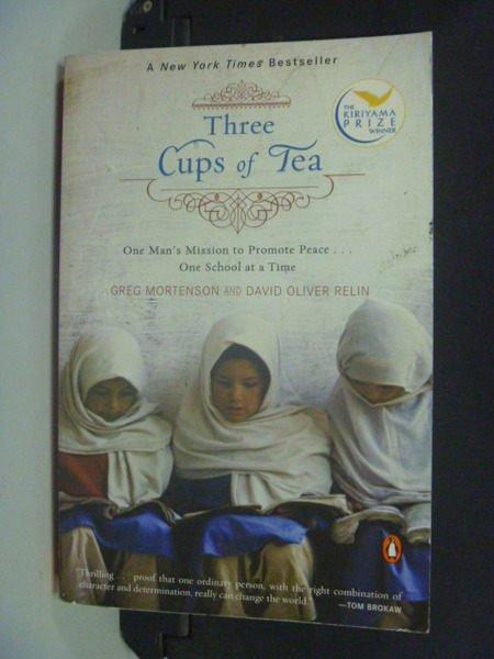 【書寶二手書T4/原文小說_NAL】Three Cups of Tea_Mortenson