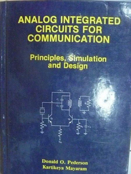 【書寶二手書T9/大學理工醫_ZFZ】Analog Integrated Circuits…_Pederson