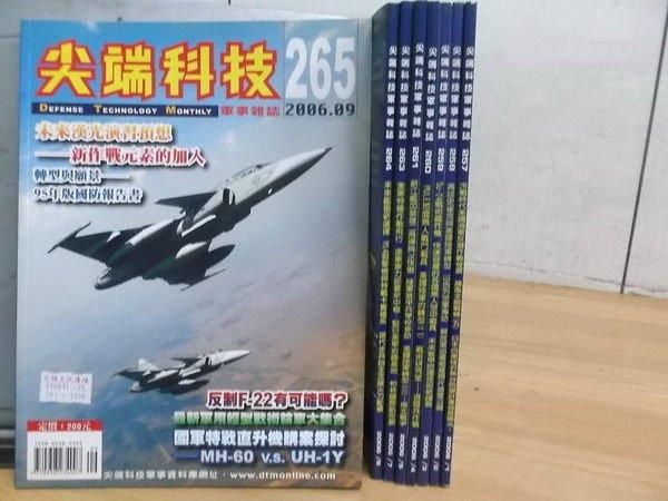 【書寶二手書T8/軍事_RIN】尖端科技_257~265期_8本合售_反制F-22等