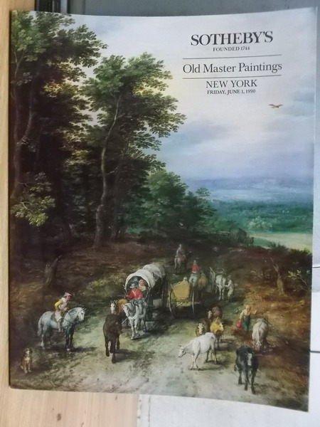 【書寶二手書T6/收藏_ZIJ】Sothebys_Old Master Paintings_1990/6/1