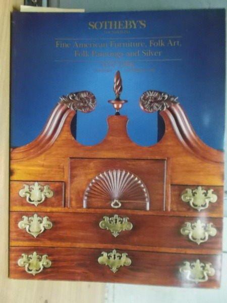 【書寶二手書T6/收藏_ZIJ】Sothebys_1990/10/20_Fine American…