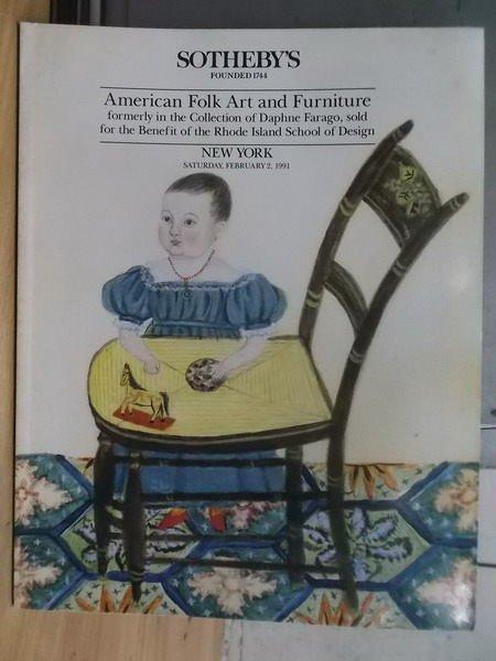 【書寶二手書T6/收藏_ZIJ】Sothebys_American Folk Art..1991/2/2