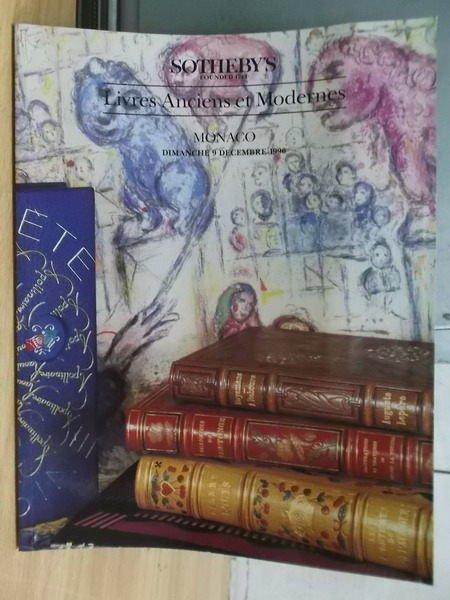 【書寶二手書T7/收藏_ZIJ】Sothebys_Liveres Anciens et.._1990/12/9