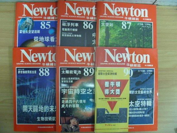 【書寶二手書T3/雜誌期刊_RGV】牛頓_85~90期間_6本合售_磁浮列車等