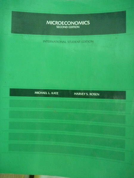 【書寶二手書T9/大學商學_PEL】Microeconomics_Katz, Rosen _2/e