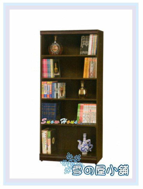 ╭☆雪之屋居家生活館☆╯AA552-12 C-08 3x6胡桃開放書櫃/展示櫃/收納櫃/置物櫃