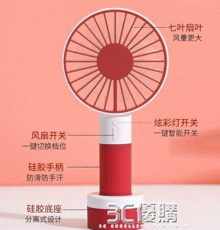 手持小風扇超靜音辦公室桌面上usb可充電小型迷你便攜臺式學生宿舍大風