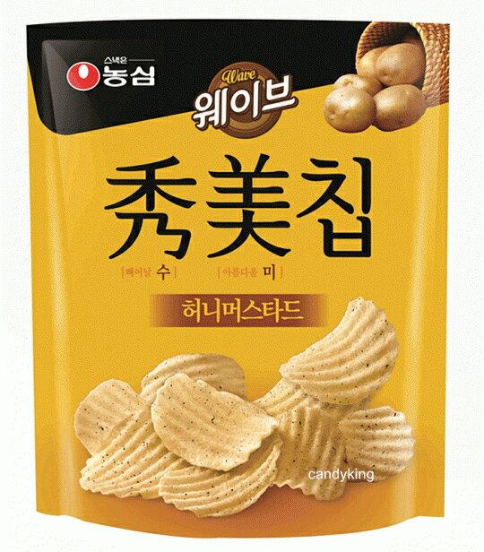 韓國 農心 秀美洋芋片 大包裝 (蜂蜜芥末口味)