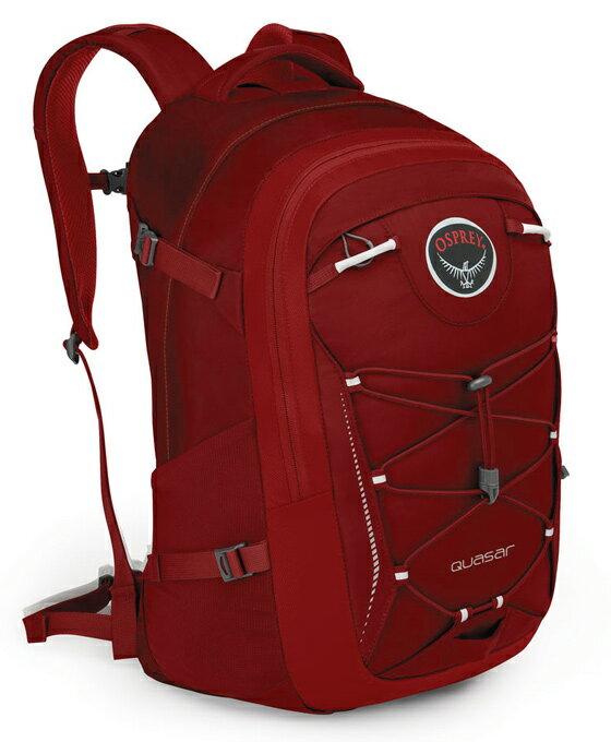【鄉野情戶外用品店】 Osprey |美國| QUASAR 28 電腦背包《男款》/15吋筆電背包 城市背包 旅行背包 -鳳凰紅/Quasar28 【容量28L】