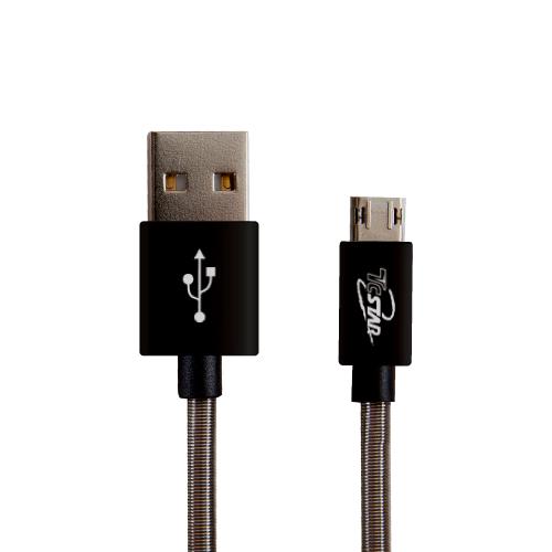 Micro USB 雙面彈簧1M 高速充電傳輸線 T.C.STAR (TCW-D5100)