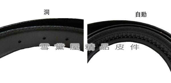 ~雪黛屋~Lian自動釦型洞釦型皮帶身MIT製品質保證紳士西裝牛皮革材質標準紳士自動釦洞釦型五金帶頭均適用L4649