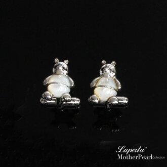 大東山珠寶 法式品味男士系列 都會紳士純銀袖扣 熊