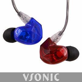 志達電子 VSD3S VSONIC 紅藍限定版 非換線式 耳道式耳機 公司貨 保固一年 Westone Shure 可參考