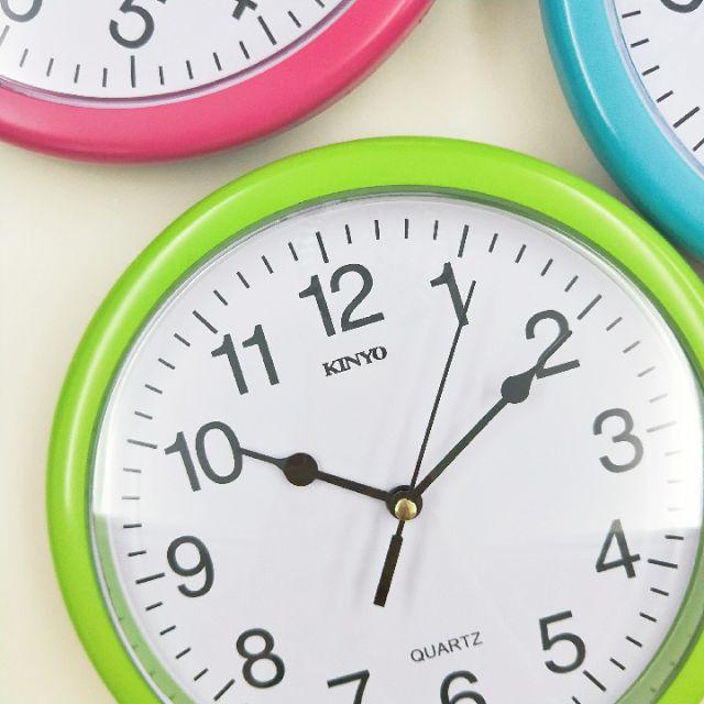 《大信百貨》KINYO CL-108 馬卡龍靜音掛鐘 時鐘 靜音時鐘 小型時鐘