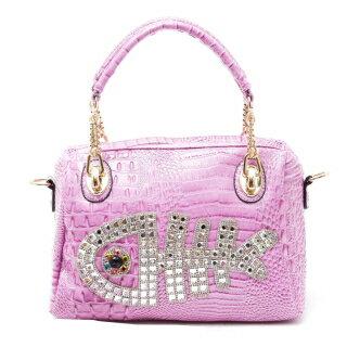 【Ve vitalise】年年有魚造型亮炫時尚包(粉紫色)