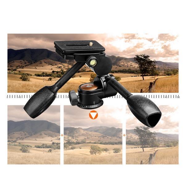 Double Handle Camera Tripod Head 360 Degree Hydraulic Damping Ball Head 1