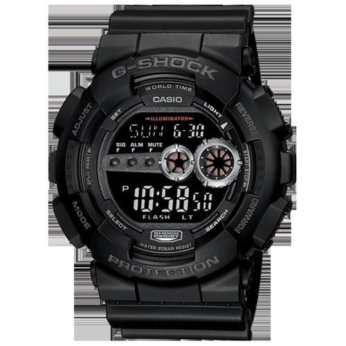 Casio G-Shock GD100-1B Chrono Quartz Resin Men's Watch 1