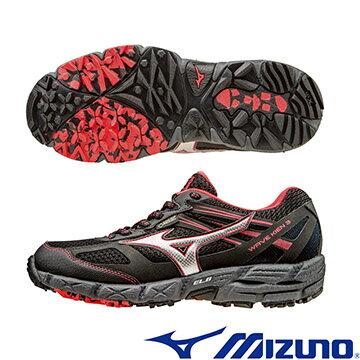 J1GK165903(黑X銀X紅)WAVE KIEN 3 G-TX (W) GORE-TEX 女戶外慢跑鞋 A【美津濃MIZUNO】