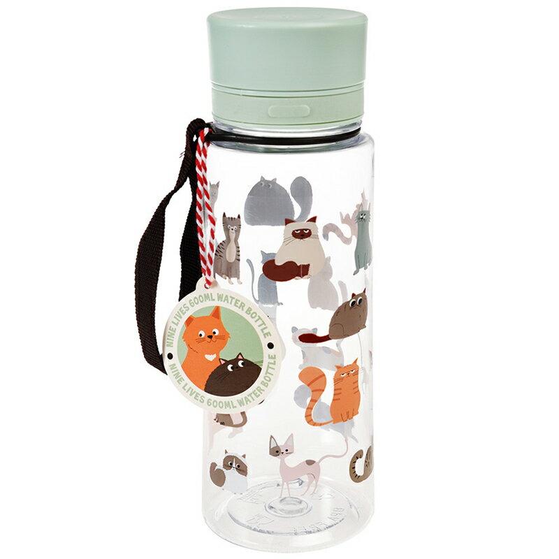 英國 Rex London 直飲式水瓶(成人/兒童皆可用)_萌貓樂園(600ML)_RL29053