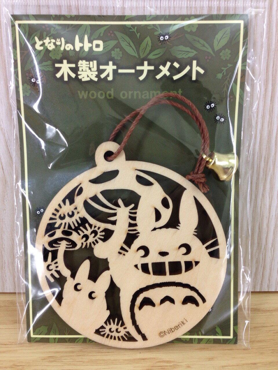 【真愛日本】15121500004精緻雕刻圓形木牌-龍貓香菇   龍貓 TOTORO 豆豆龍    吊飾  掛飾  木牌  收藏