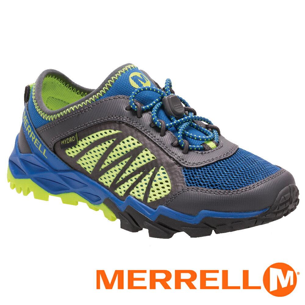 【美國 MERRELL】HYDRO RUN 2.0兒童水陸兩棲鞋『藍/灰/黃』56506 健行鞋.兒童鞋.機能鞋.休閒鞋.登山.戶外.露營