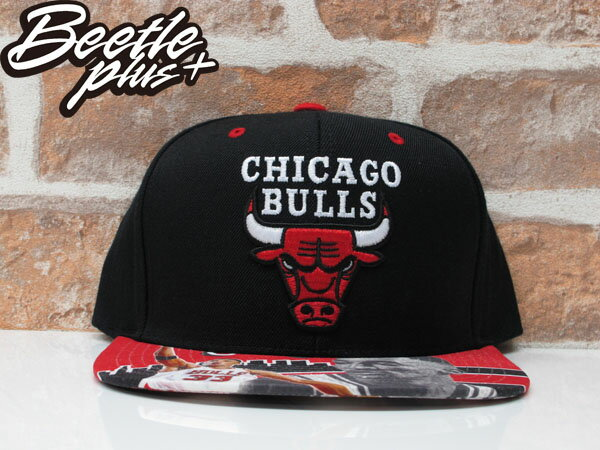 BEETLE MITCHELL&NESS NBA BULLS 公牛 黑紅 PIPPEN 復古 SNAPBACK 後扣帽 MN-325