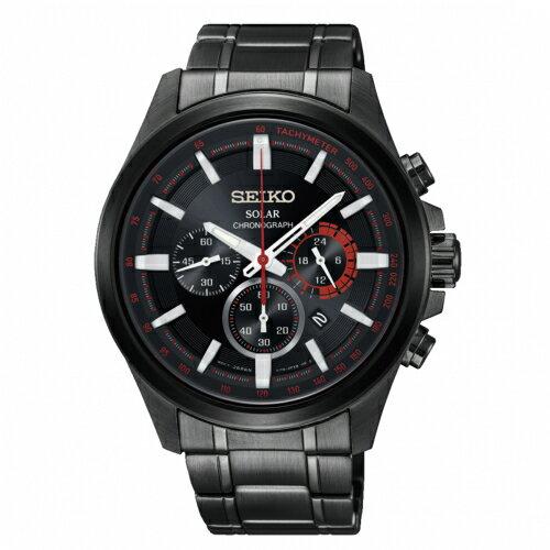 SEIKOCriteria時時刻刻三眼太陽能時尚腕錶V175-0ER0XSSC685P1