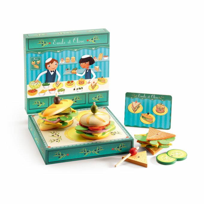 DJECO智荷 - 家家酒遊戲 - 漢堡組盒餐 4Y