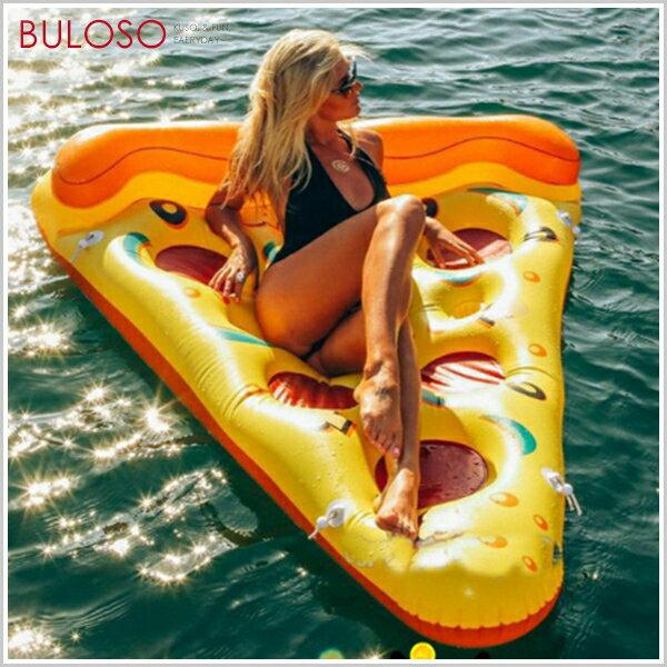《台中不囉唆》披薩浮排水上床墊 戶外/沙灘/海邊/游泳/pizza/漂浮/游泳圈/度假/派對/充氣【A400237】