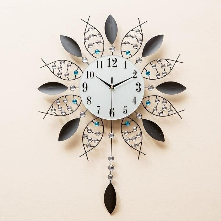 掛鐘 鐘錶時尚潮流客廳現代簡約時鐘個性壁鐘家用藝術裝飾大氣  【新年鉅惠】