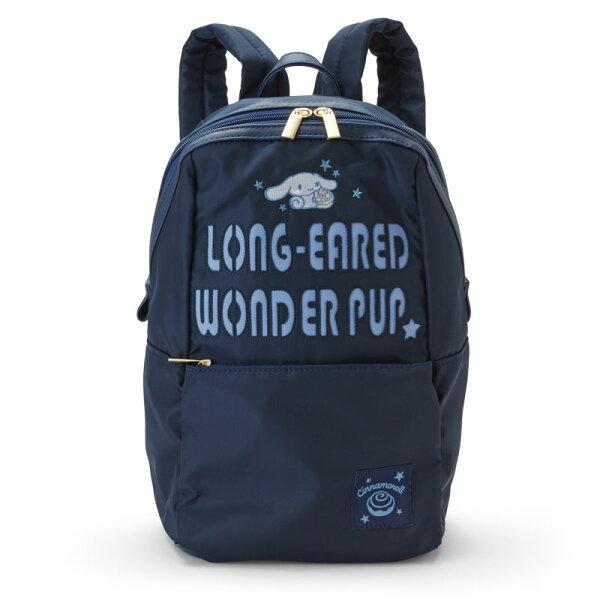 【真愛日本】4901610137611休閒刺繡後背包-CN靛藍ACQ大耳狗喜拿狗三麗鷗後背包書包