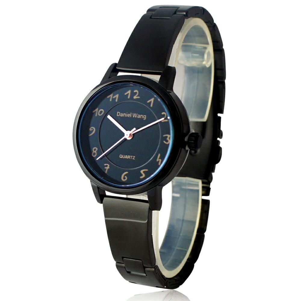 Daniel Wang 3139-IP 典雅小巧錶帶黑框手寫數字質感手錶 2
