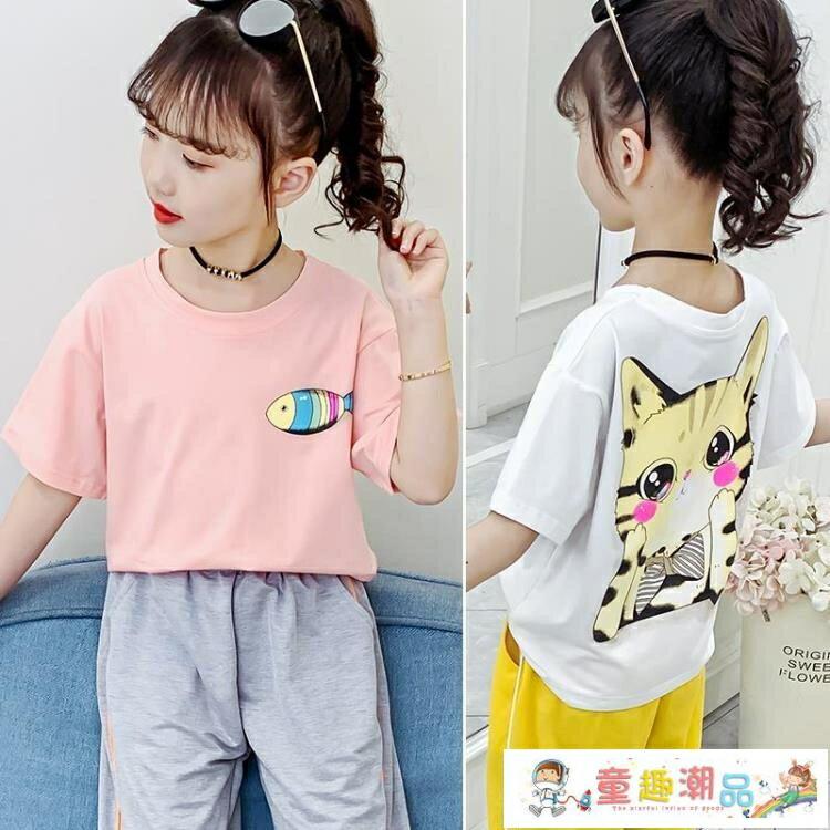 【免運】女童短袖 2021年夏季寬鬆洋氣童裝韓版純棉半袖兒童夏裝上衣潮