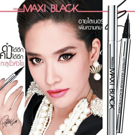 泰國 回購率100% Mistine 魅力四射全效眼線液筆 1g MAXI Black 超顯色 不暈染【N200610】