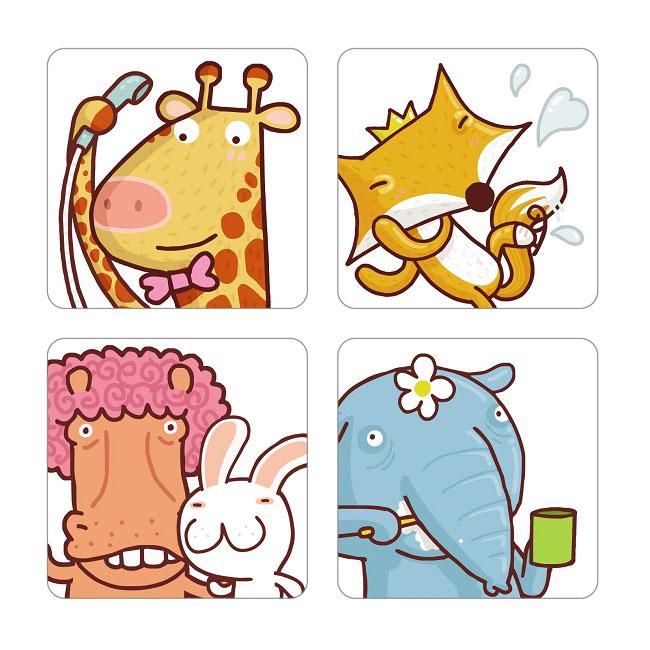 【米菲寶貝】3M-正版公司貨-防滑貼片(動物6入)廁所 浴室 樓梯 安全 止滑貼片 4