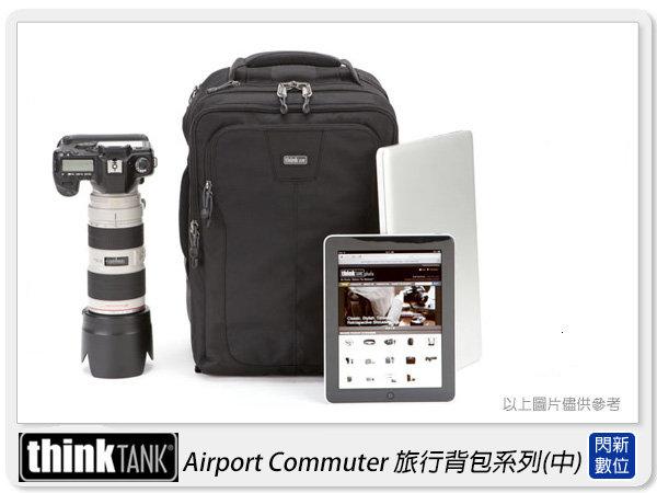 【分期0利率】THINKTANK創意坦克AirportCommuter旅行背包(中)雙肩後背可放15吋筆電(AC486公司貨)TTP486