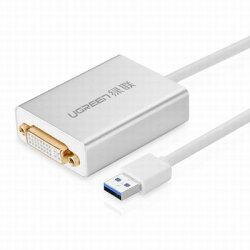 【USB3.0轉DVI/HDMI/VGA轉換器-40243-線長80cm-1套/組】USB外置顯卡多屏擴展筆電電腦通用-586062