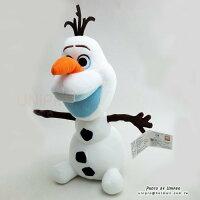 【UNIPRO】迪士尼 冰雪奇緣 FROZEN 雪寶 Olaf  坐姿 絨毛玩偶 娃娃 正版授權 雪人