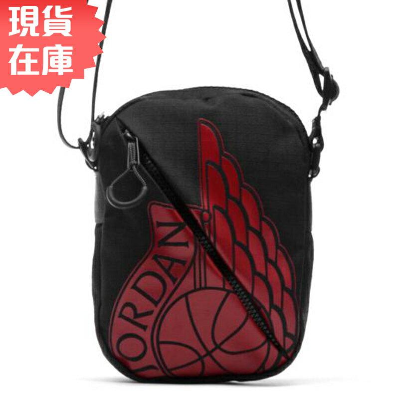 【現貨】NIKE JORDAN Jumpman Wings Festival Bag 側背包 小方包 休閒 黑 紅 【運動世界】9A0198-023