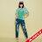【maru.a】刷破鬍子車線裝飾後口袋小船印花牛仔長褲(2色)8325215 6