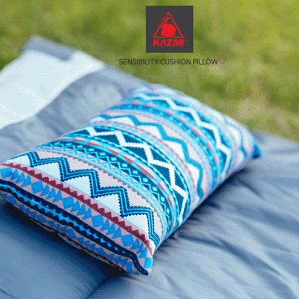 【露營趣】KAZMIK6T3M001民族風攜帶式棉枕露營枕頭非充氣枕頭