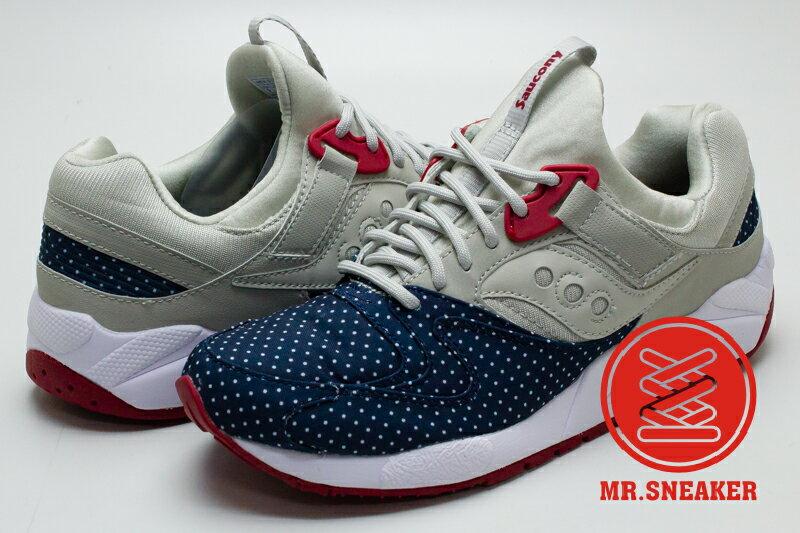 ☆Mr.Sneaker☆ Saucony Grid 9000 網狀避震 緩震 慢跑 索康尼 水玉 點點 藍灰色 男女款