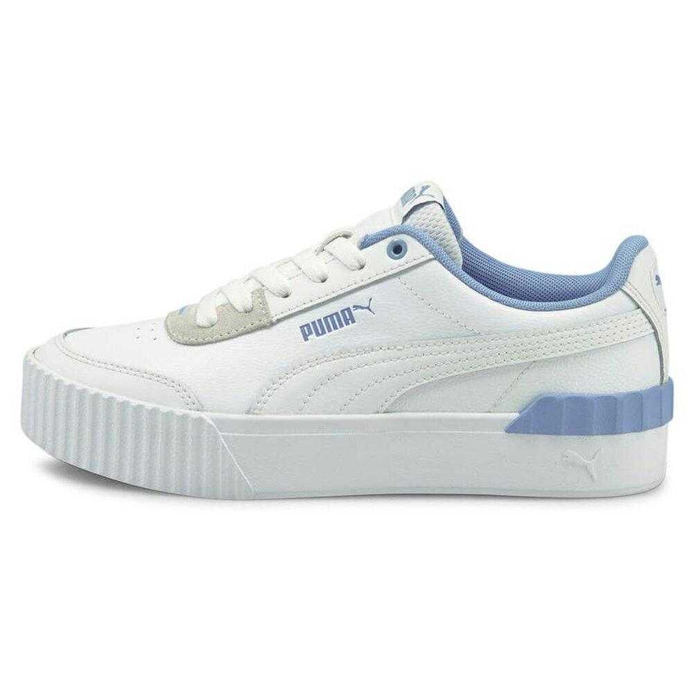 【全館滿額88折】【現貨】PUMA CARINA LIFT 女鞋 休閒 復古 經典 皮革 白 藍【運動世界】37303111