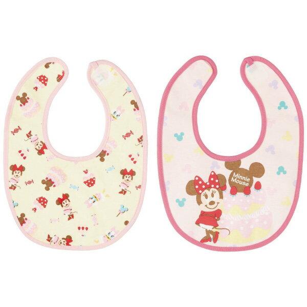 日本 迪士尼 Disney 米妮口水巾/圍兜(2件組)