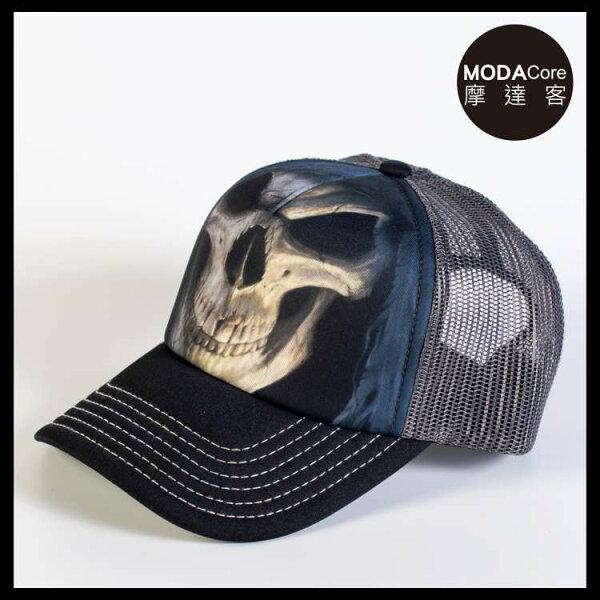 【摩達客】(預購)美國進口TheMountain大死神臉藝術棒球帽網帽5-Panel新五分割帽