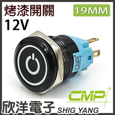 ※欣洋電子※19mm烤漆塑殼平面電源燈無段開關DC12VPP1903A-12紅、綠、藍三色光自由選購CMP西普