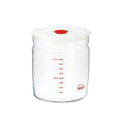 iwaki 玻璃密封罐 1L