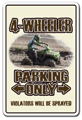 4-WHEELER Sign atv four wheeling 4x4 quad dirt 4-wheel Indoor/Outdoor 12